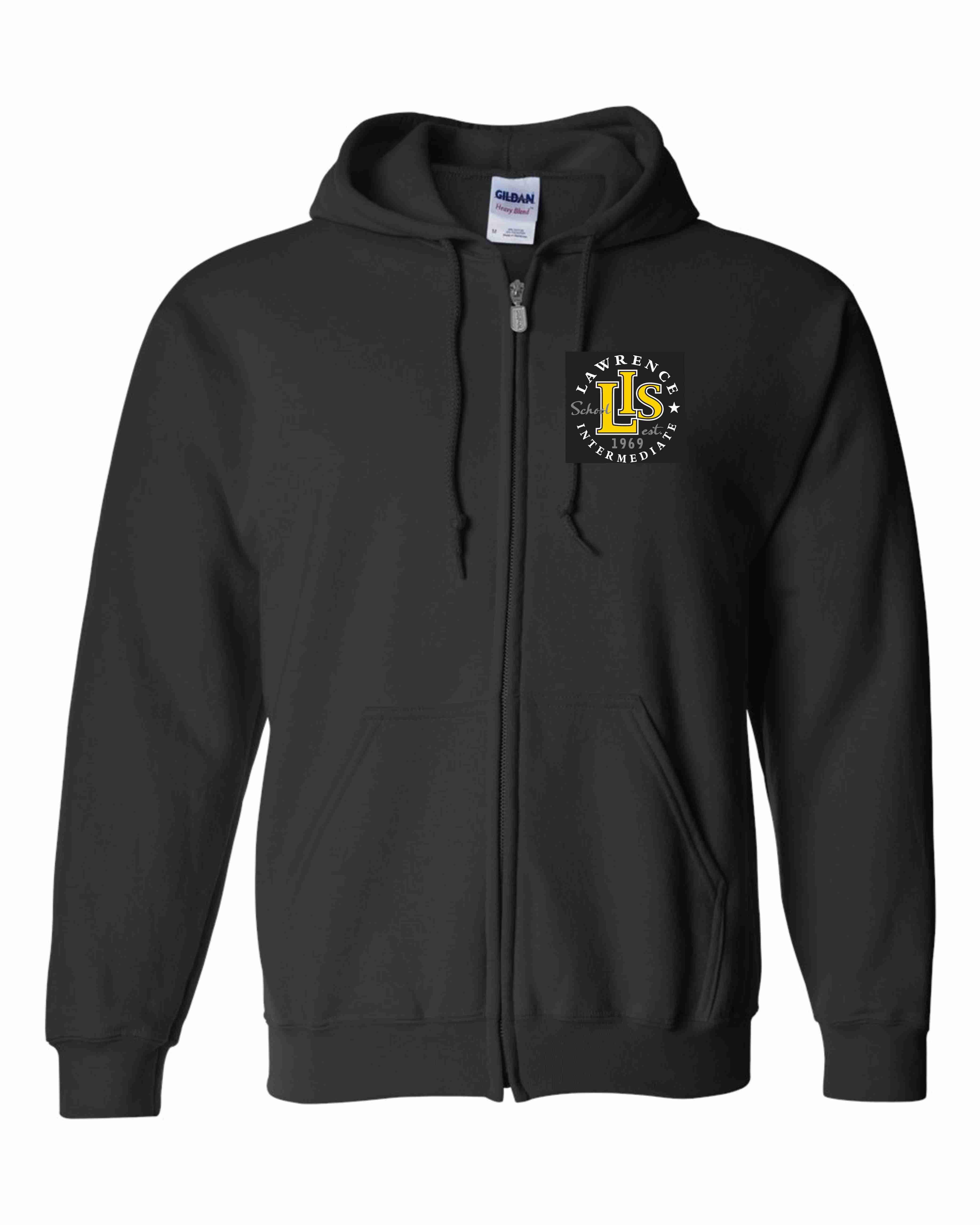 18600 Embroidered Adult Zip Hooded Sweatshirt
