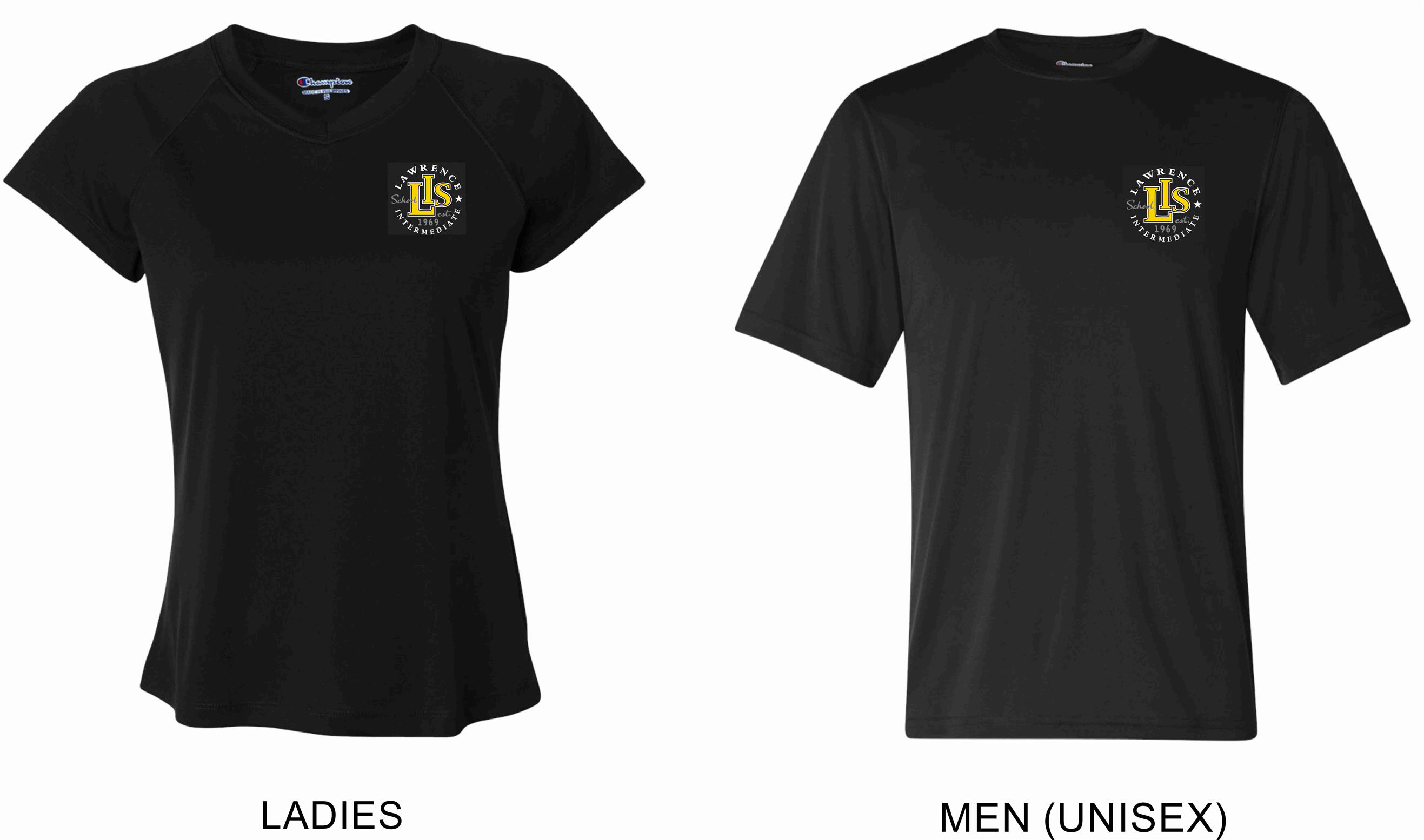 CW23 Embroidered Champion - Ladies' Double Dry V-Neck Performance T-Shirt